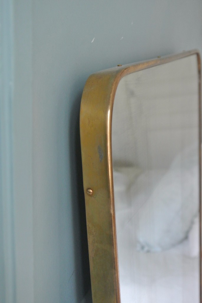 Miroir Année 50 miroir italien en laiton années 50, attribué à gio ponti